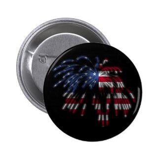 4 de julio fuegos artificiales y la bandera americ pins
