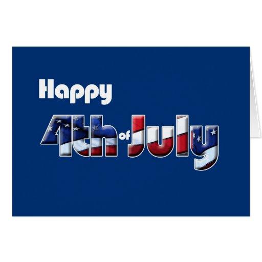 4 de julio humor patriótico de la tarjeta
