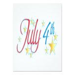 4 de julio invitación 12,7 x 17,8 cm