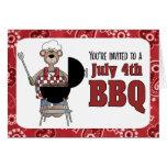 4 de julio invitación de la barbacoa tarjeta de felicitación