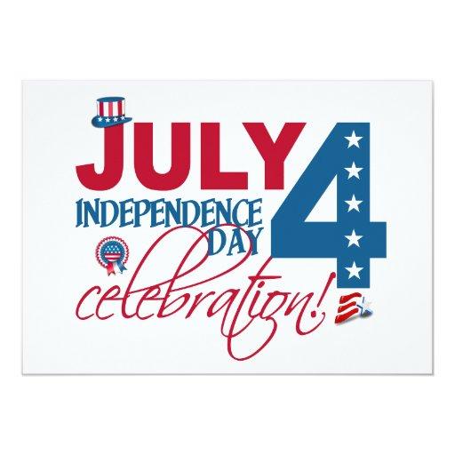 ¡4 de julio invitación de la celebración, invitación 12,7 x 17,8 cm
