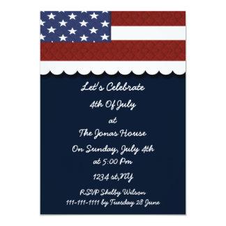 4 de julio invitación de la celebración de días