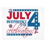 ¡4 de julio invitación de la celebración - persona