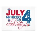 ¡4 de julio invitación de la celebración, personal