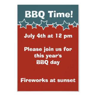 4 de julio invitación del Bbq Invitación 12,7 X 17,8 Cm