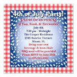 4 de julio invitación invitación 13,3 cm x 13,3cm