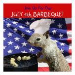 4 de julio invitaciones de la ardilla de BBQin Comunicado Personalizado
