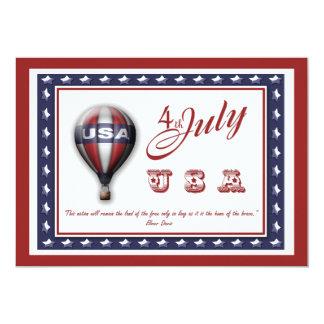 4 de julio invitaciones - plantilla adaptable invitación 12,7 x 17,8 cm