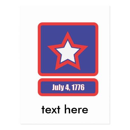 4 de julio logotipo del ejército postal