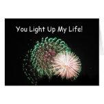 ¡4 de julio - los fuegos artificiales, usted encie tarjeta