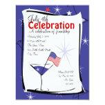 4 de julio Martini Invitación 10,8 X 13,9 Cm