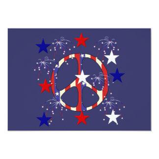 4 de julio paz invitación 12,7 x 17,8 cm