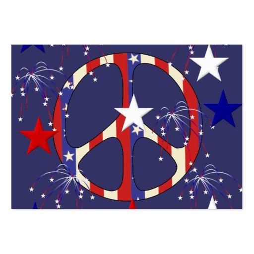 4 de julio paz tarjetas de visita grandes
