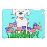 4 de julio perro con las banderas