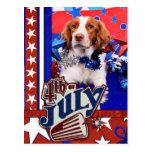 4 de julio - perro de aguas de Bretaña - Charlie Postal