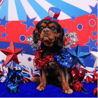 4 de julio - perro de aguas de rey Charles arrogan Esculturas Fotográficas