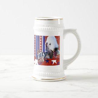4 de julio petardo - Bedlington Terrier Jarra De Cerveza