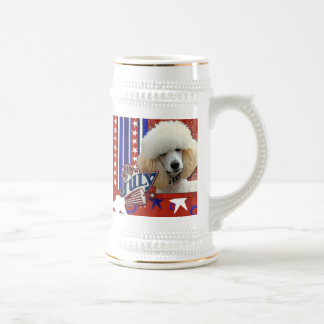 4 de julio petardo - caniche - albaricoque jarra de cerveza
