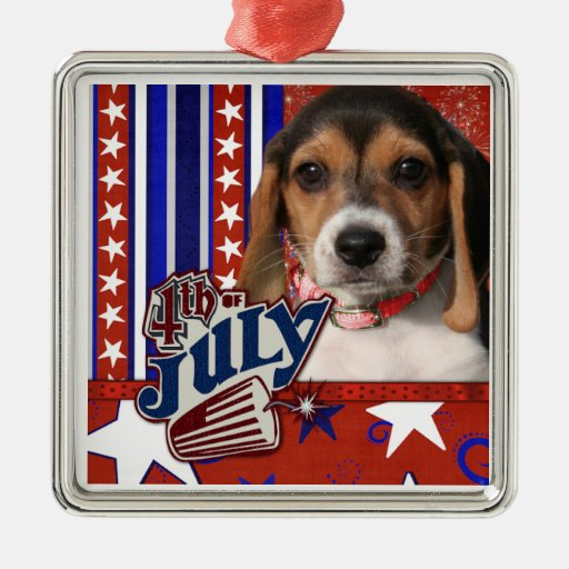 4 de julio petardo - perrito del beagle adorno