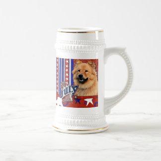 4 de julio petardo - perro chino de perro chino -  jarra de cerveza