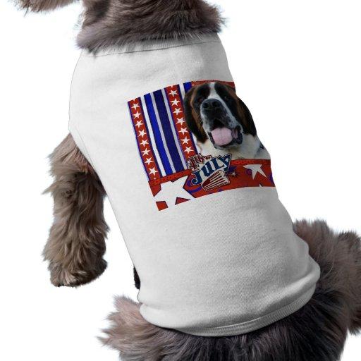 4 de julio petardo - St Bernard - Mae Camiseta De Mascota