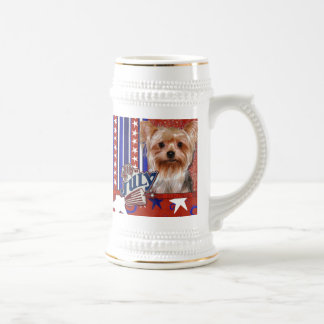 4 de julio petardo - Yorkshire Terrier Jarra De Cerveza