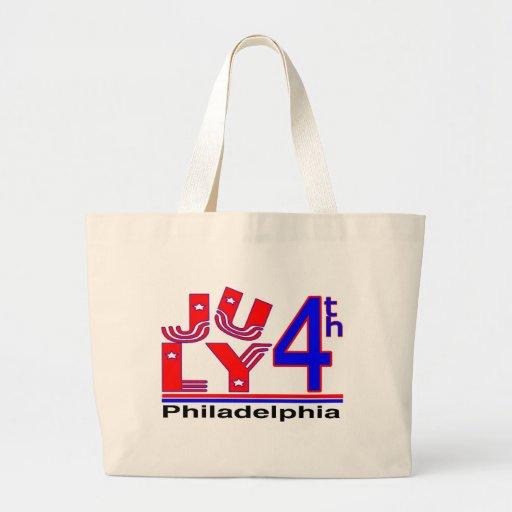 4 de julio Philadelphia Bolsas Lienzo