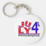 4 de julio Philadelphia Llaveros Personalizados