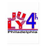 4 de julio Philadelphia Tarjeta Postal