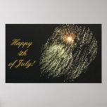 4 de julio poster de los fuegos artificiales