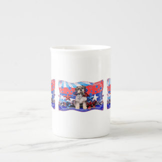 4 de julio - Schnauzer X - Apache Tazas De Porcelana