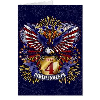 4 de julio tarjeta de felicitación de la independe