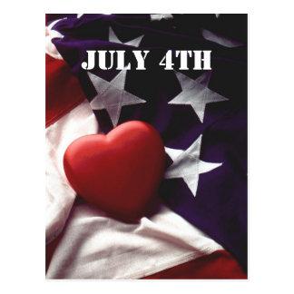 4 de julio tarjeta postal