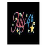 4 de julio tarjetas postales