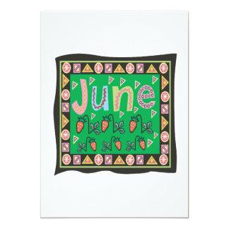 """4 de junio invitación 5"""" x 7"""""""