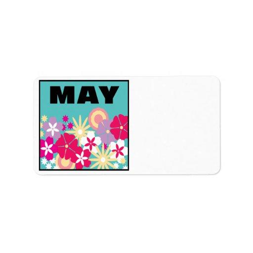 4 de mayo etiquetas de dirección