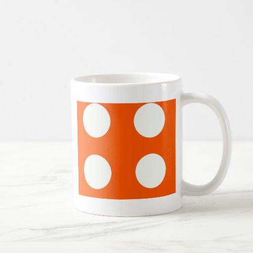4 dice classic white coffee mug