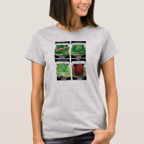 4 Different Vintage Seed Packet Label Art Designs T-Shirt