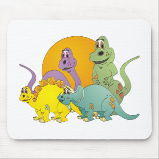 4 Dinosaur Friends Mouse Pad