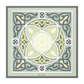 4 Directions - Lime & Sage Canvas Print
