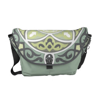 4 Directions - Silver and Mauve Messenger Bag