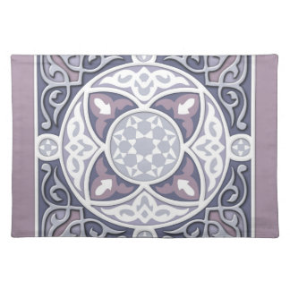 4 Directions - Silver & Lavender Cloth Placemat