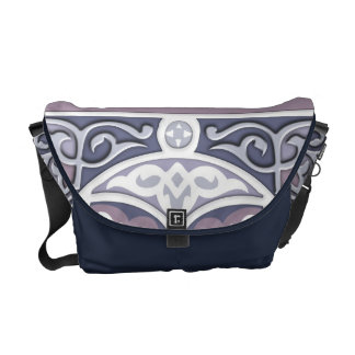 4 Directions  - Silver & Lavender Courier Bag