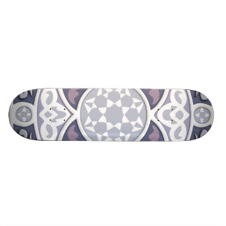 4 Directions - Silver & Lavender Skateboard Deck