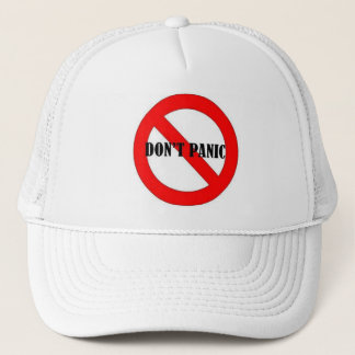 4 DON'T PANIC TRUCKER HAT