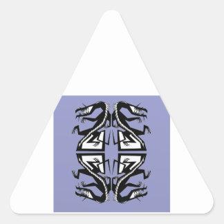 4 dragones pegatina trianguloada