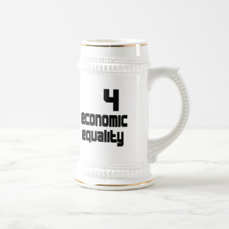 4 Economic Equality Stein 18 Oz Beer Stein