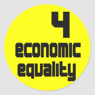 4 Economic Equality Stickers