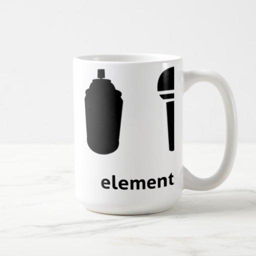 4 elementos del hip-hop taza de café