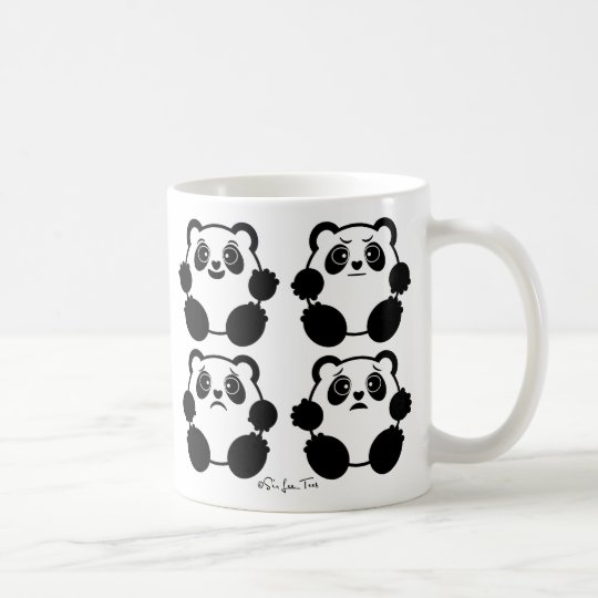 4 Emotional Pandas Coffee Mug